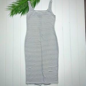 Popular Basics Sleeveless Bodycon Striped Dress